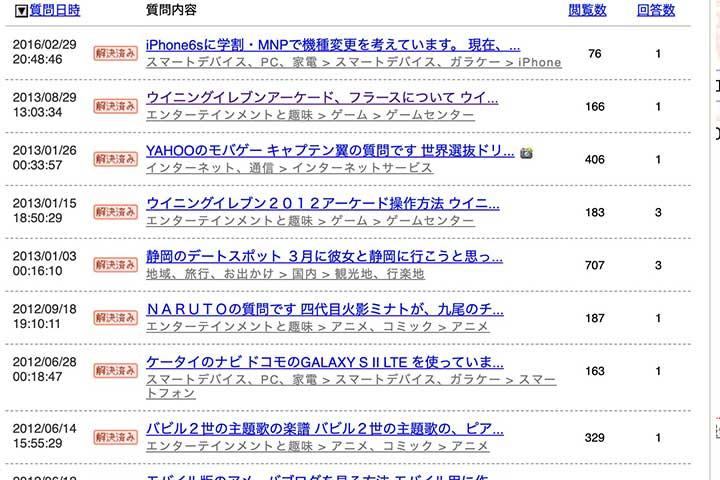 Yahoo!知恵袋リサーチ03