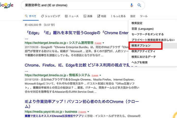 検索オプション1